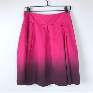 Express Design Studio Ombre pleated skirt 6